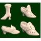 Royal Creamware Victorian Boot
